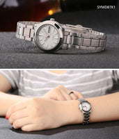 Seiko 5 Classic Ladies Size White Dial Stainless Steel Strap Watch SYMD87K1 - Diligence1International