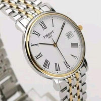Tissot Swiss Made T-Classic Desire 2 Tone Gold Plated Ladies' Watch T52.2.281.13 - Diligence1International