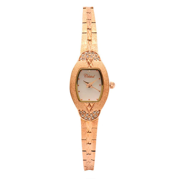 Cristal Ladies' Rose Gold Plated Watch HG3570-RGMP - Diligence1International