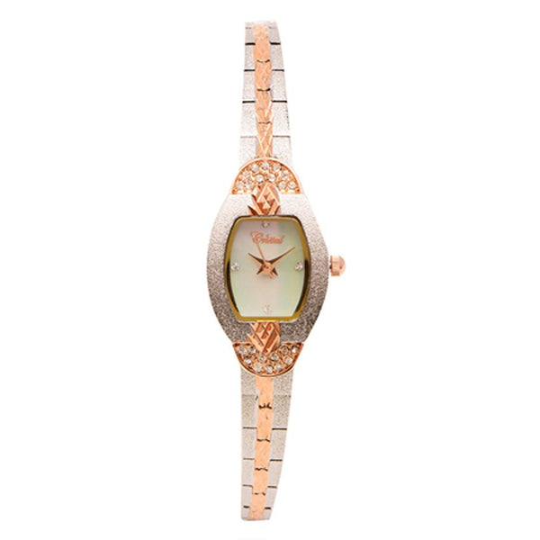 Cristal Ladies' Two-Tone Plated Strap Watch HG3570-RSMPFE - Diligence1International