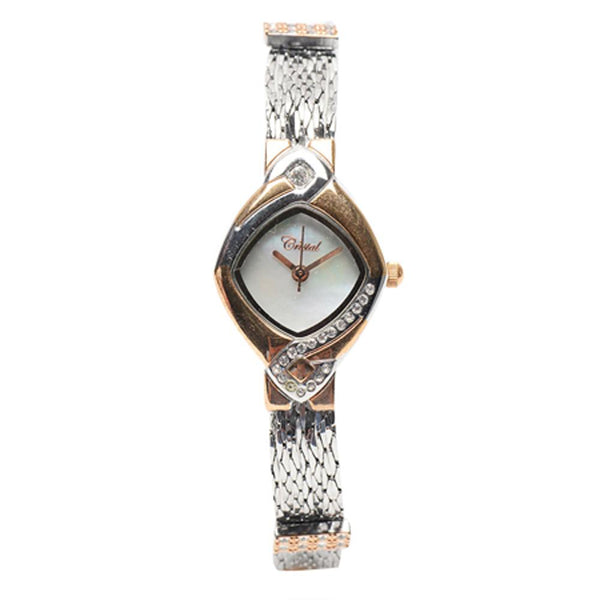 Cristal Ladies' Two-Tone Plated Strap Watch HG3636-RSMP - Diligence1International