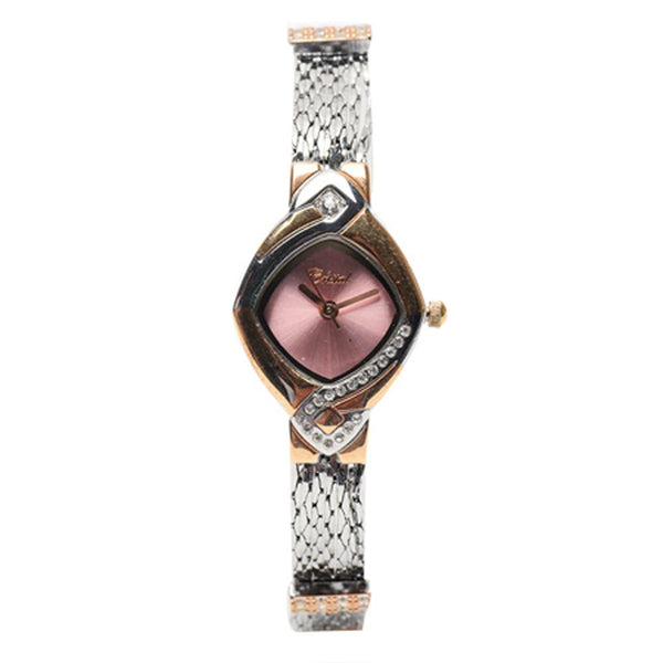 Cristal Ladies' Two-Tone Plated Strap Watch HG3636-RSPK - Diligence1International