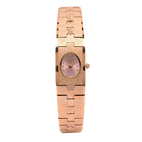Cristal Ladies' Rose Gold Plated Strap Watch HG3650-RGPKTE - Diligence1International