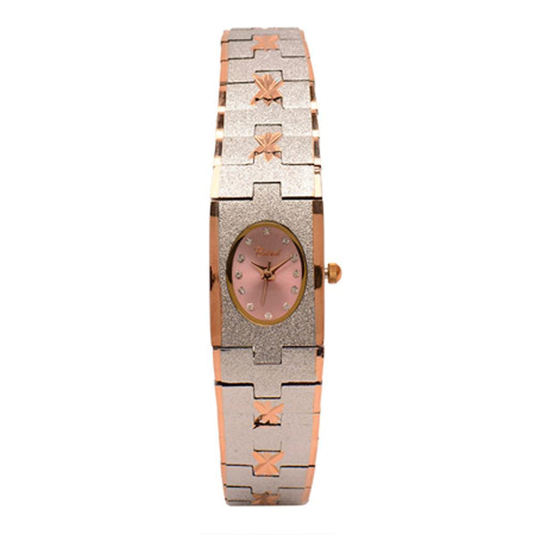 Cristal Ladies' Two-Tone Plated Strap Watch HG3650-RSPKTE - Diligence1International