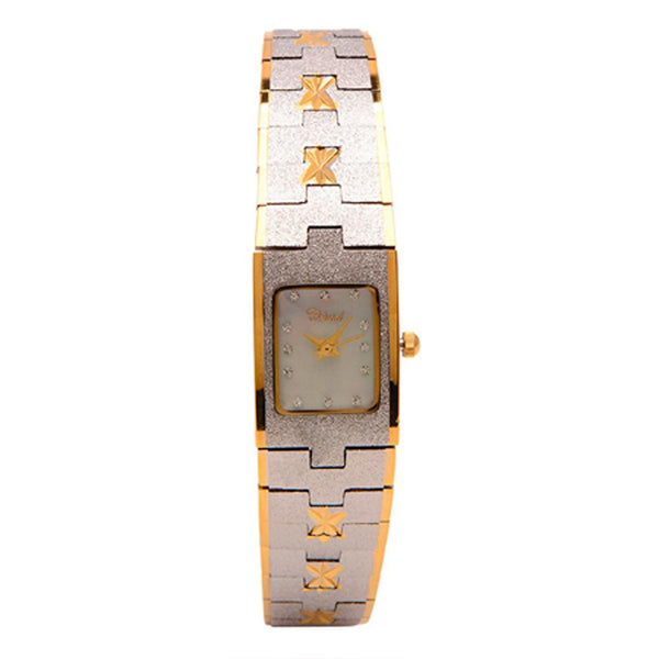 Cristal Ladies' Two-Tone Plated Strap Watch HG3679-GSMPTE - Diligence1International