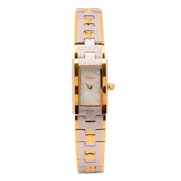 Cristal Ladies' Two-Tone Plated Strap Watch HG3680-GSMPTE - Diligence1International