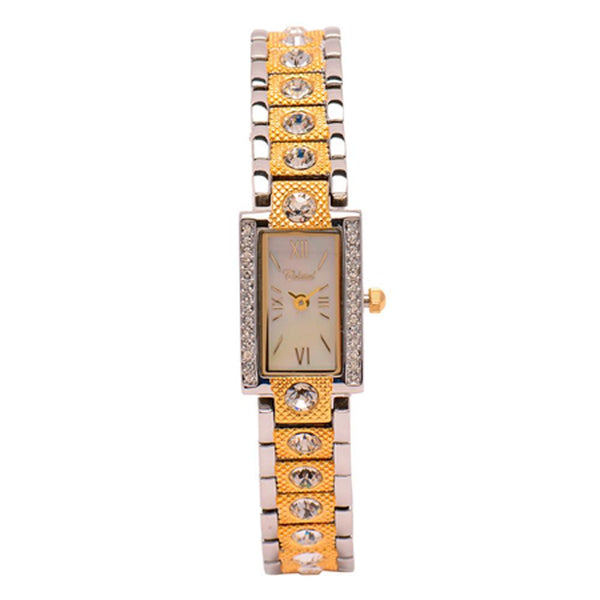Cristal Ladies' Two-Tone Plated Strap Watch HG3703-GSMP - Diligence1International