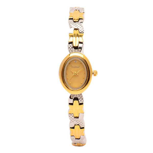 Cristal Ladies' Two-Tone Plated Strap Watch HG3776-GSGG - Diligence1International