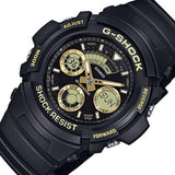 Casio G-Shock Standard Analog-Digital Black x Gold Accents Watch AW591-2ADR - Diligence1International