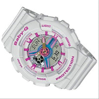 Casio Baby-G BA-110 Series Neo Retro Colors White Watch BA110NR-8A - Diligence1International