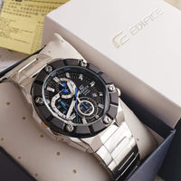 Casio Edifice Chronograph Black Dial x Blue Accents Men's Watch EFR-569DB-1AV - Diligence1International