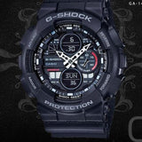 Casio G-Shock Standard Analog-Digital Stealth Black Color Watch GA140-1A1DR - Diligence1International