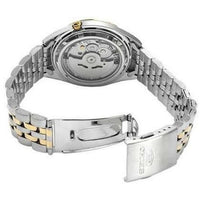 Seiko 5 Classic Mens Size Silver Dial 2 Tone Gold Plated Stainless Steel Strap Watch SNKL24K1 - Diligence1International
