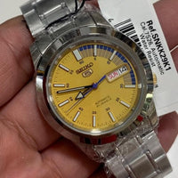 Seiko 5 Classic Men's Size Yellow Dial Stainless Steel Strap Watch SNKK29K1 - Diligence1International