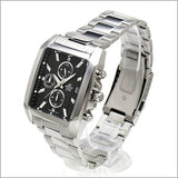 Casio Edifice Rectangle Chronograph Black Dial Men's Stainless Steel Watch EFR-511D-1AV - Diligence1International