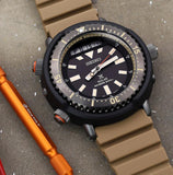 Seiko Urban Safari Series Arnie Solar Tuna Desert Beige Diver's Men's Watch SNJ029P1 - Diligence1International