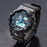 Casio G-Shock Analog-Digital Black x Metallic Blue Accents Watch GA710B-1A2DR - Diligence1International