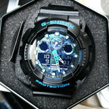 Casio G-Shock Military Blue Camo Camouflage Print Dial Watch GA100CB-1ADR - Diligence1International