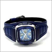 Casio G-Shock Retrograde Street Rider Anadigi Blue Leather Watch G350L-2AVER - Diligence1International