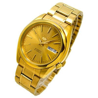Seiko 5 Classic Mens Size Gold Dial & Plated Stainless Steel Strap Watch SNKL48K1 - Diligence1International