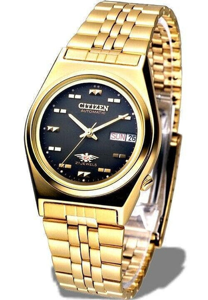 Jewelry & Watches:Watches, Parts & Accessories:Wristwatches - Citizen Classic Automatic Men's Gold Stainless Strap Watch NH2112-50F