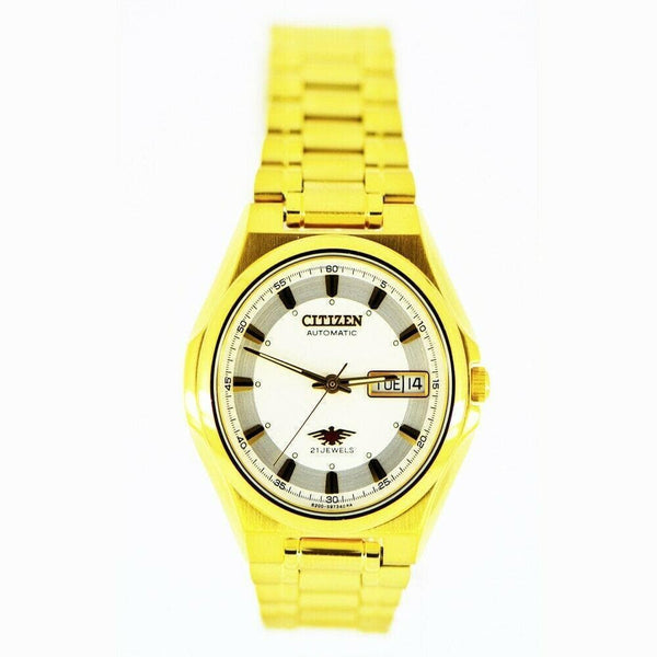 Jewelry & Watches:Watches, Parts & Accessories:Wristwatches - Citizen Classic Automatic Men's Gold Stainless Strap Watch NH3732-50B