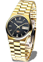 Jewelry & Watches:Watches, Parts & Accessories:Wristwatches - Citizen Classic Automatic Men's Gold Stainless Strap Watch NH3742-56E