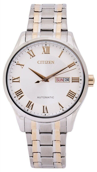 Jewelry & Watches:Watches, Parts & Accessories:Wristwatches - Citizen Luxury Men's Two Tone Rose Gold Stainless Steel Strap Watch NH8366-83A