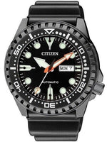 Jewelry & Watches:Watches, Parts & Accessories:Wristwatches - Citizen Marine Sport 100M Diver's Black IP Plated Rubber Strap Watch NH8385-11E