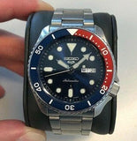 Jewelry & Watches:Watches, Parts & Accessories:Wristwatches - NEW Seiko 5 Sports 100M Automatic Men's Watch Pepsi Bezel Blue Dial SRPD53K1