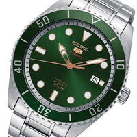 Jewelry & Watches:Watches, Parts & Accessories:Wristwatches - Seiko 5 Sports 100M Automatic Men's Watch Green Dial SRPB93K1