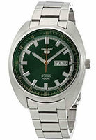 Jewelry & Watches:Watches, Parts & Accessories:Wristwatches - Seiko 5 Sports 100M Green Turtle Automatic Men's Stainless Steel Watch SRPB13K1
