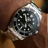 Jewelry & Watches:Watches, Parts & Accessories:Wristwatches - Seiko 5 Sports Black Sea Urchin Automatic Men's Watch SNZF17K1