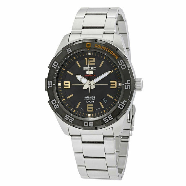 Jewelry & Watches:Watches, Parts & Accessories:Wristwatches - Seiko 5 Sports JAPAN Made 100M Automatic Men's Watch Black Dial SRPB83J1