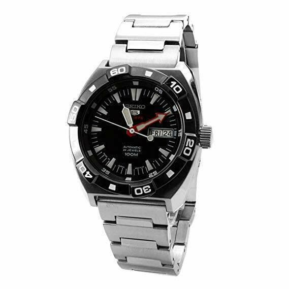 Jewelry & Watches:Watches, Parts & Accessories:Wristwatches - Seiko 5 Sports JAPAN Made 100M Black Dial Automatic Men's Watch SRP285J1