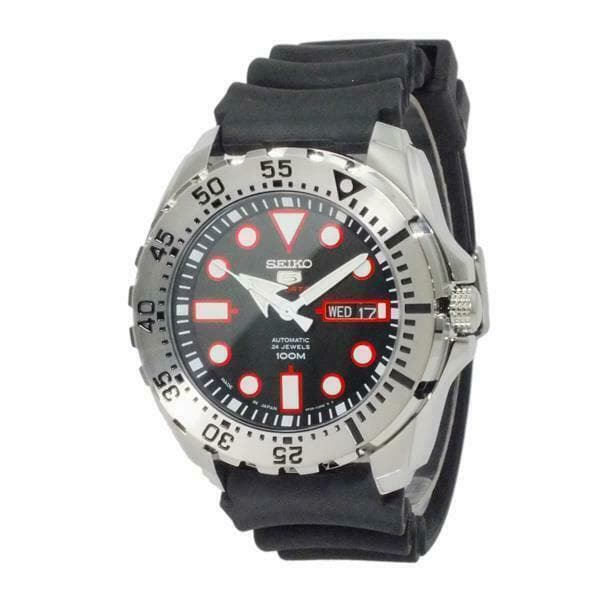 Jewelry & Watches:Watches, Parts & Accessories:Wristwatches - Seiko 5 Sports JAPAN Made Black Dial Mini Baby Monster Men's Watch SRP601J1