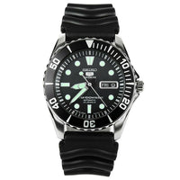 Jewelry & Watches:Watches, Parts & Accessories:Wristwatches - Seiko 5 Sports JAPAN Made Black Sea Urchin Automatic Watch Rubber Strap SNZF17J2