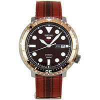 Jewelry & Watches:Watches, Parts & Accessories:Wristwatches - Seiko 5 Sports JAPAN Made Bottle Cap 100M Brown Dial Nylon Strap Watch SRPC68J1