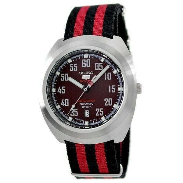 Jewelry & Watches:Watches, Parts & Accessories:Wristwatches - Seiko 5 Sports Limited Edition Red Carbon Fiber Dial Turtle Watch SRPA87J1