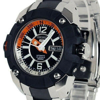 Jewelry & Watches:Watches, Parts & Accessories:Wristwatches - Seiko 5 Sports Pro Diver's Black Dial Orange And White Two Tone Watch SKZ265K1