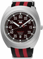 Jewelry & Watches:Watches, Parts & Accessories:Wristwatches - Seiko 5 Sports Red Carbon Fiber Dial Limited Edition Turtle Watch SRPA87K1