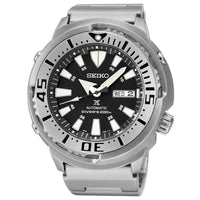 Jewelry & Watches:Watches, Parts & Accessories:Wristwatches - Seiko Black Monster Baby Tuna Prospex Men's Stainless Steel Watch SRP637K1