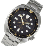 Jewelry & Watches:Watches, Parts & Accessories:Wristwatches - Seiko Black With Gold Turtle Prospex Diver's Men's Watch SRP775K1