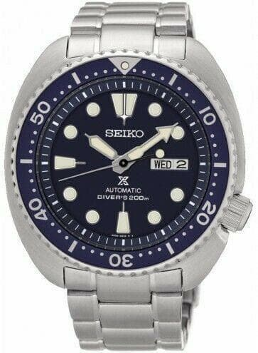 Jewelry & Watches:Watches, Parts & Accessories:Wristwatches - Seiko Blue Turtle Prospex Diver's Men's Stainless Steel Strap Watch SRP773K1