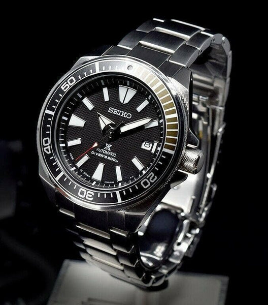 Jewelry & Watches:Watches, Parts & Accessories:Wristwatches - Seiko JAPAN Made Black Samurai 200M Diver's Men's Watch SRPB51J1