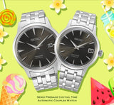 Jewelry & Watches:Watches, Parts & Accessories:Wristwatches - Seiko JAPAN Made Presage Cocktail Expresso Martini Couple's Stainless Steel Watch Set SRPE17J1 + SRP837J1
