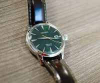 Jewelry & Watches:Watches, Parts & Accessories:Wristwatches - Seiko JAPAN Made Presage Cocktail Mockingbird Men's Leather Strap Watch SRPD37J1