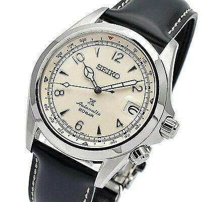 Jewelry & Watches:Watches, Parts & Accessories:Wristwatches - Seiko JAPAN Made Prospex NEW Alpinist White Men's Leather Strap Watch SPB119J1