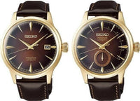 Jewelry & Watches:Watches, Parts & Accessories:Wristwatches - Seiko LE Presage Dark Brown Old Fashioned Watches SSA392J1 + SRPD36J1 Set
