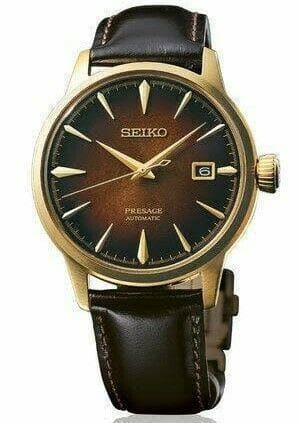 Jewelry & Watches:Watches, Parts & Accessories:Wristwatches - Seiko Limited Edition Presage Dark Brown Old Fashioned Men's Watch SRPD36J1